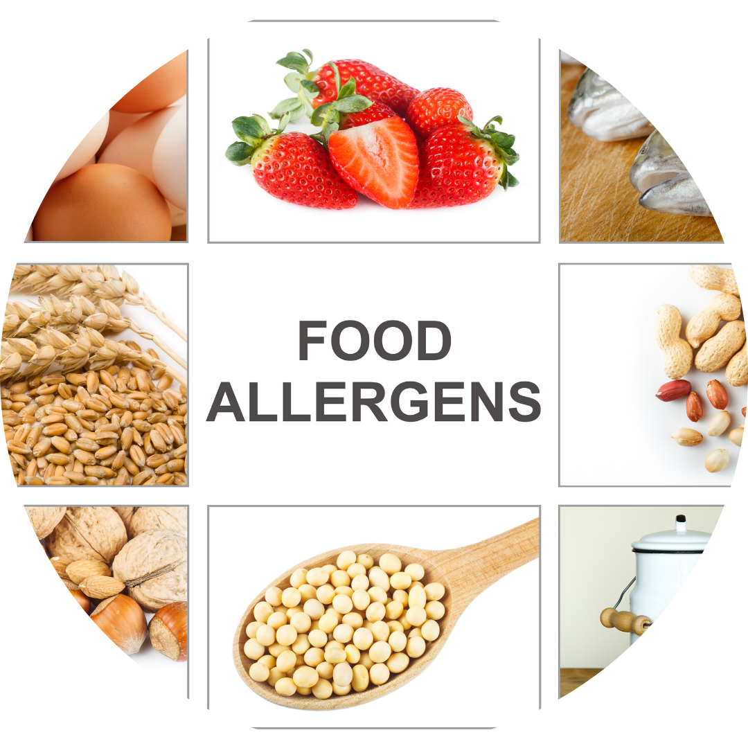 pictures of food that are common allergens