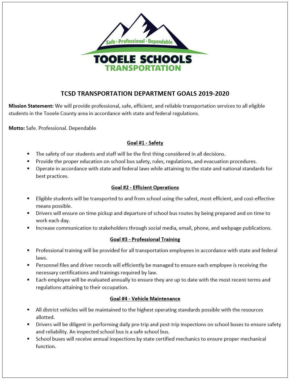 TCSD Goals