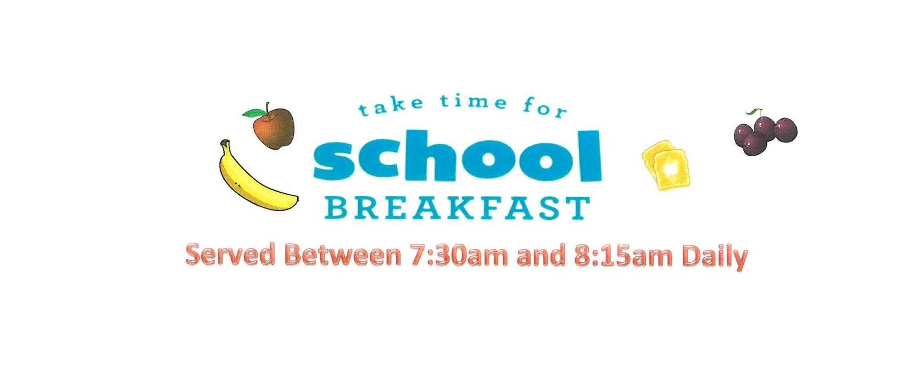Take time for school breakfast