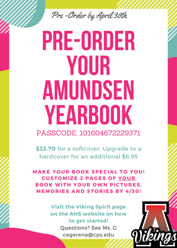 Pre-Order You Amundsen Yearbook by April 30th Featured Photo