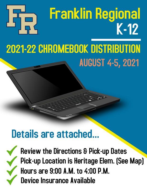 K-12 Chromebook Distribution Aug 4-5, 2021