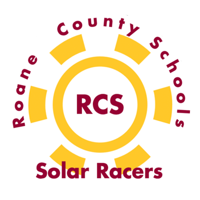 RCS Solar Racers Logo; yellow gear with RCS in red in the middle