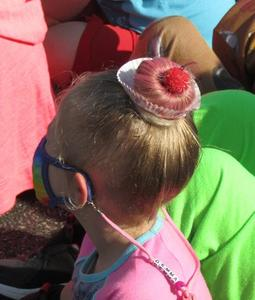 a student on Crazy Hair Day