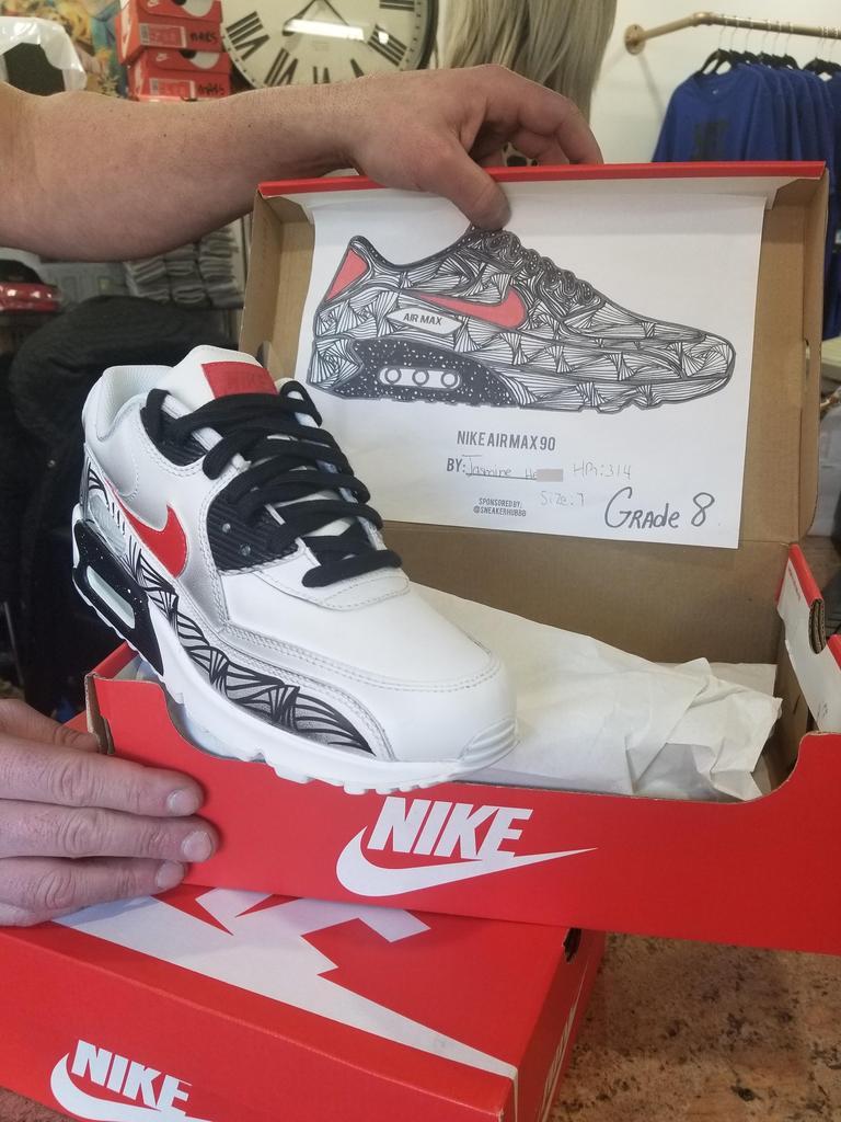 Jasmine grade 8 winning sneaker design