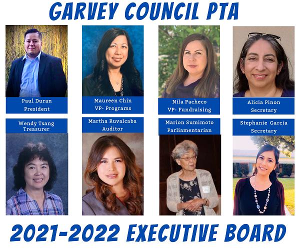 2021-2022 GCPTA Executive Board