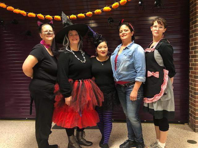 BES Kitchen Staff at Halloween
