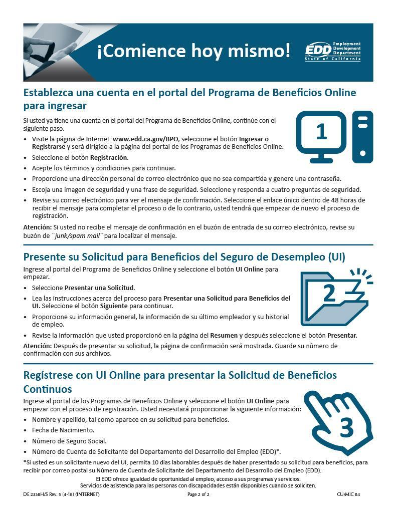 Spanish Unemployment Resources Page 2