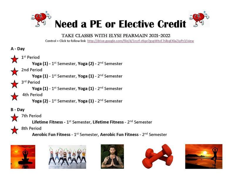 PE Class Offerings