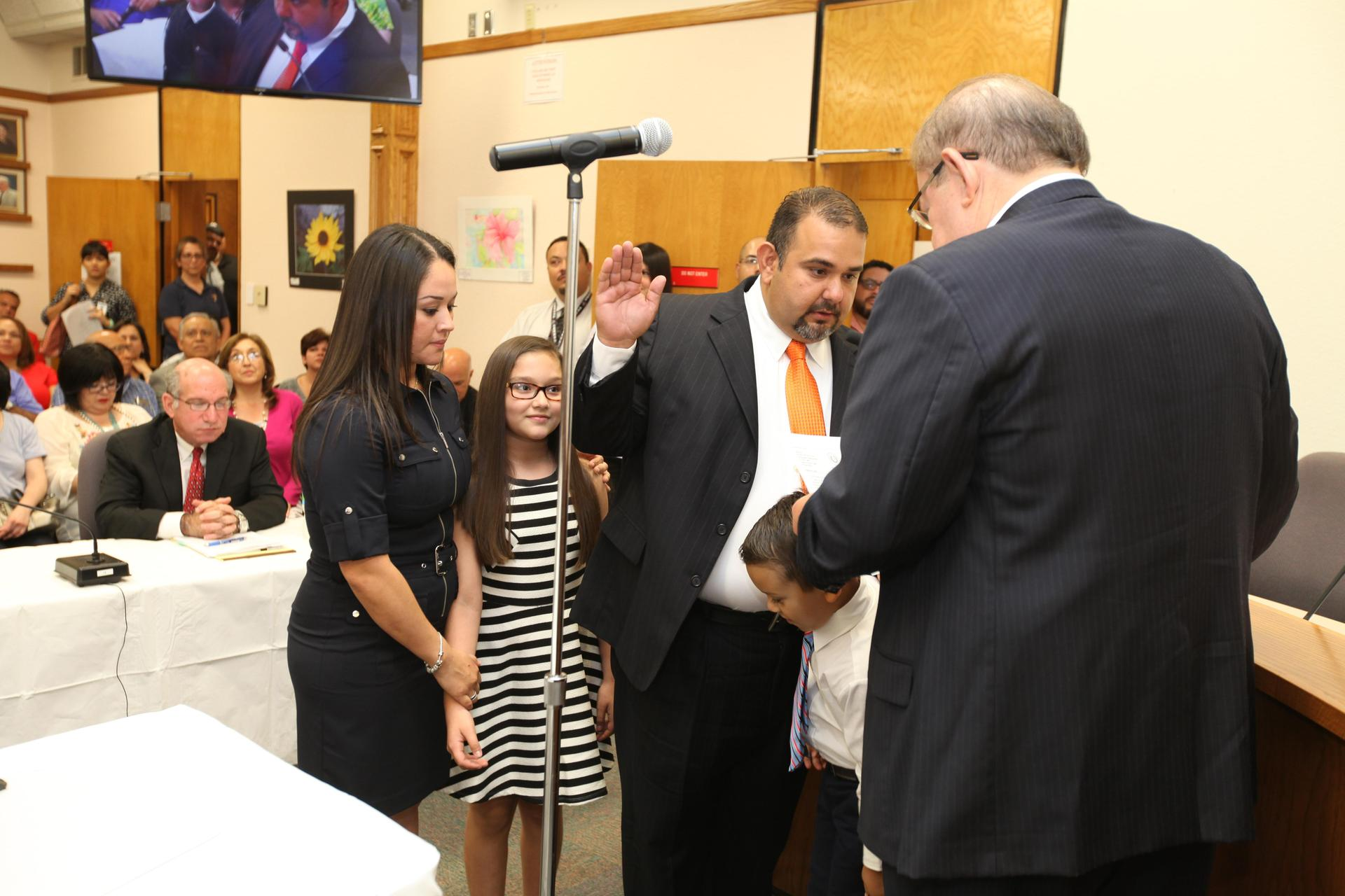 Marco Suarez Swearing in