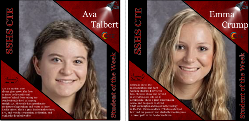 CTE Student Spotlight- Emma Crump and Ava Talbert Featured Photo