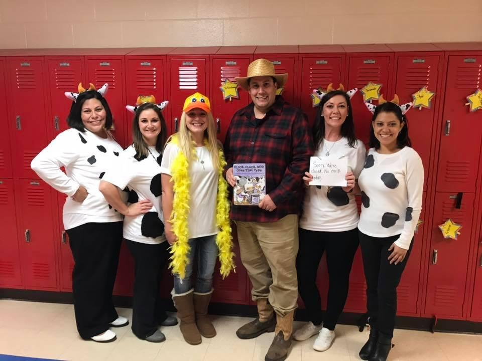 3rd grade teacher team on Character Parade Day