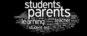 Student Led Conference Word Cloud