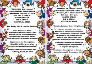 preschool and kindergarten registration information- duo languages