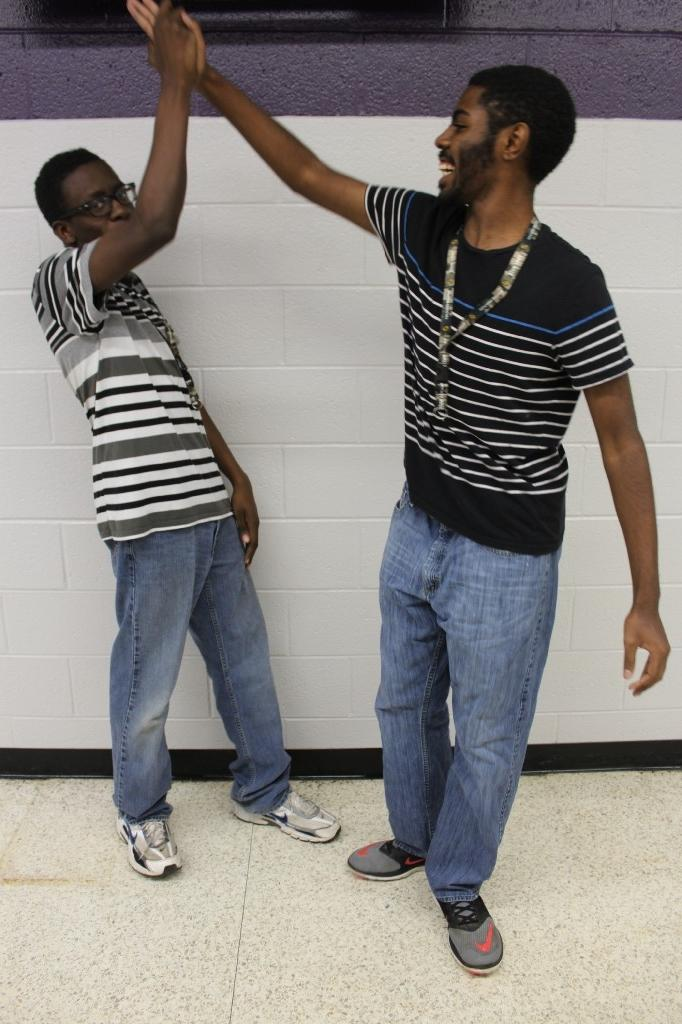 Twin Day: Two guys in stripe shirts