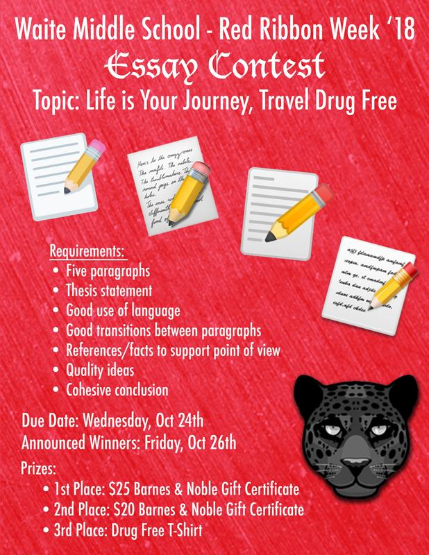 Red Ribbon Week Writing Contest Featured Photo