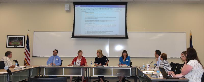 Hermiston School Board members at their July 8 regular meeting.
