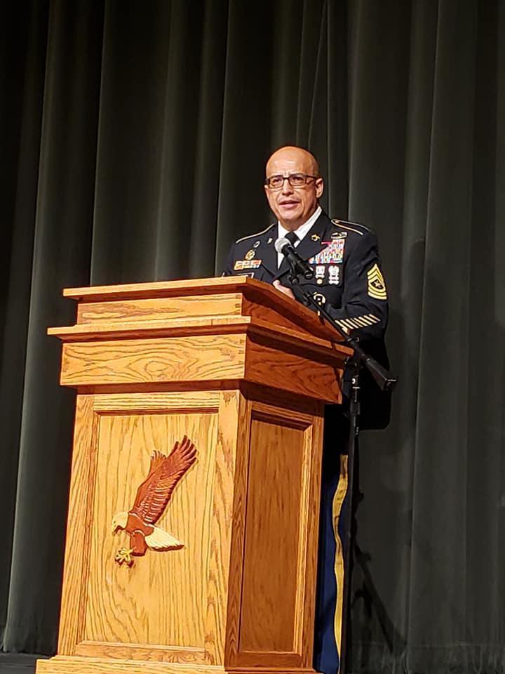 Veteran's Day Guest Speaker, CSM(Ret) Cantu