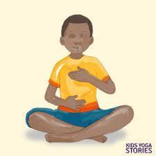 boy meditating cartoon