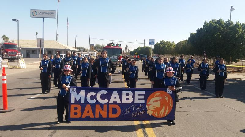 The McCabe Band begins their marching season earning 1st Place in the Heber parade! Thumbnail Image