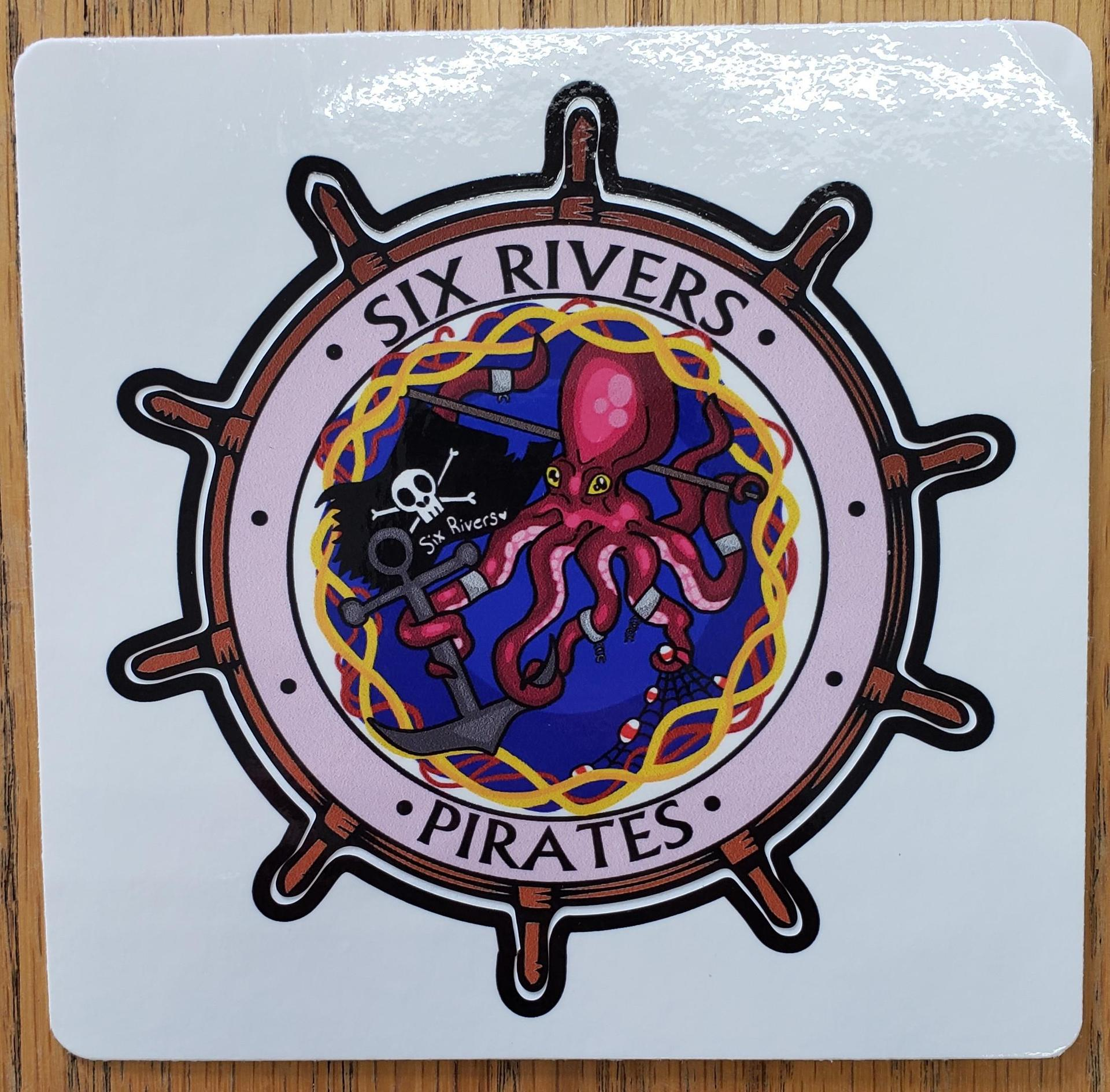 Large Logo Sticker (with Octopus)