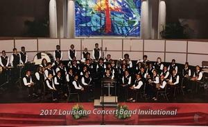 A photo of the BHS Band at the 2017 Louisiana Concert Band Invitational
