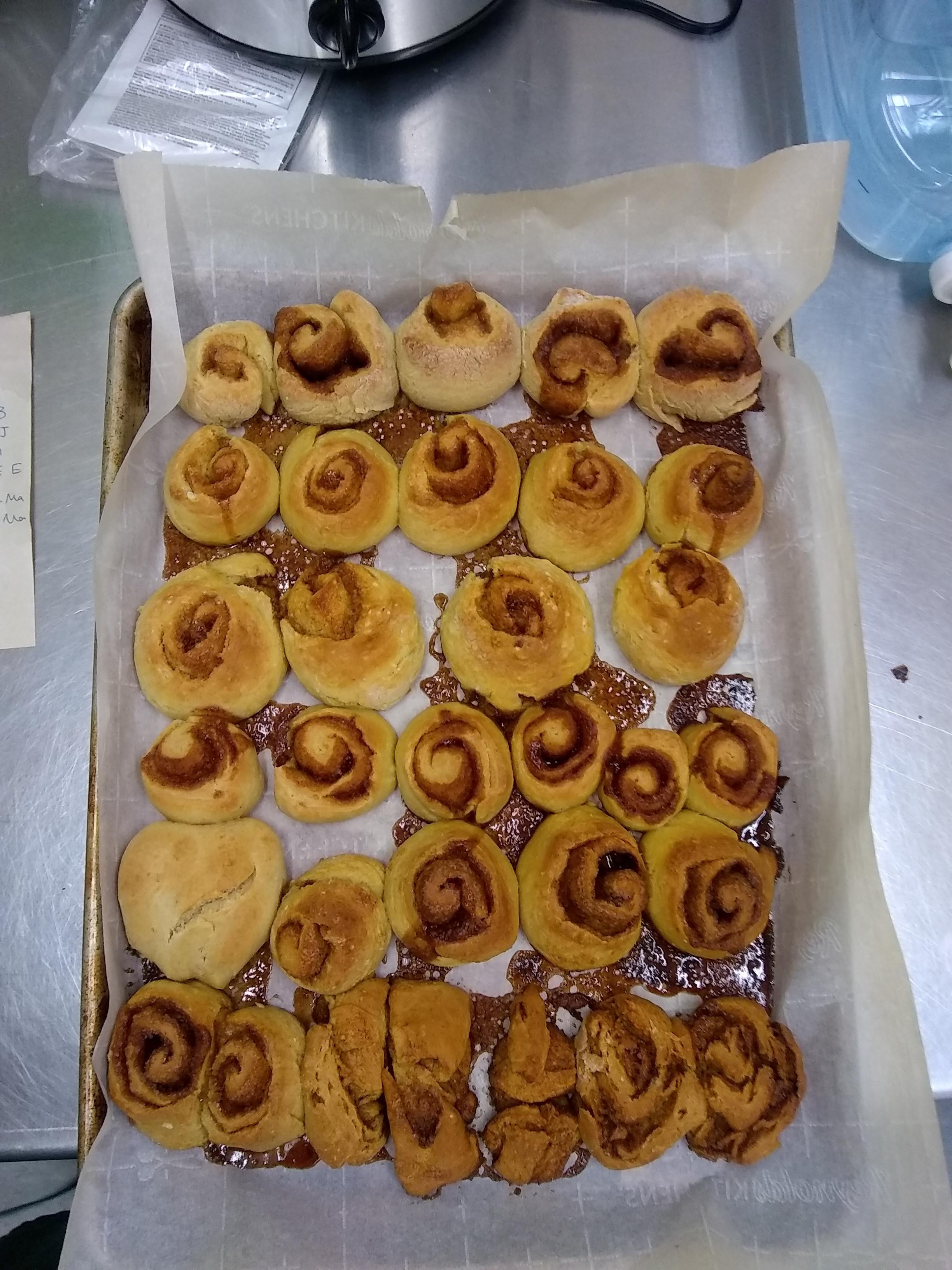 finished cinnamon rolls