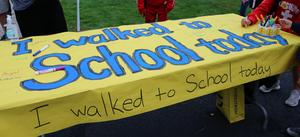 Photo of Walk to School Day Banner