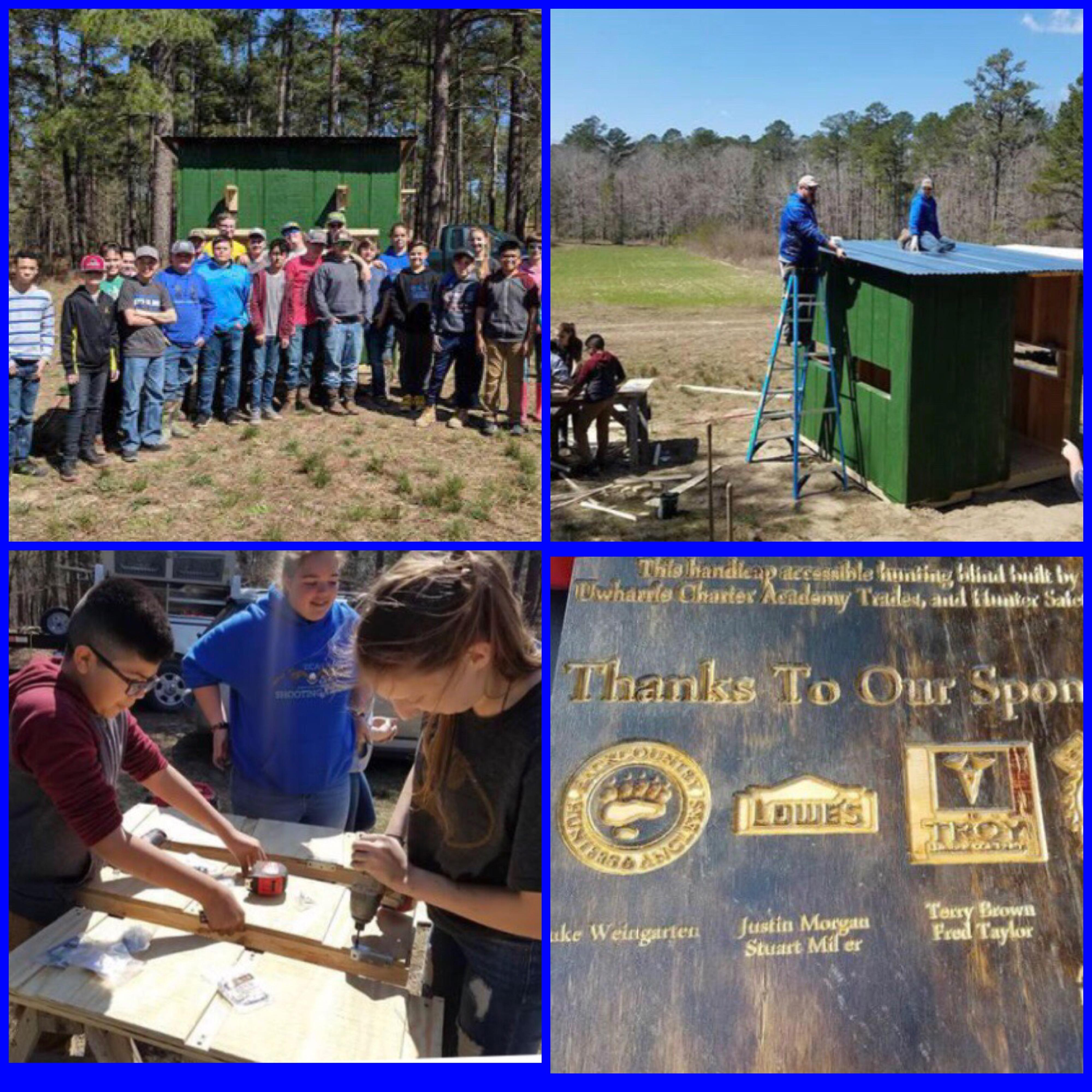 UCA Students Help Build Handicap Accessible Hunting Blind Image