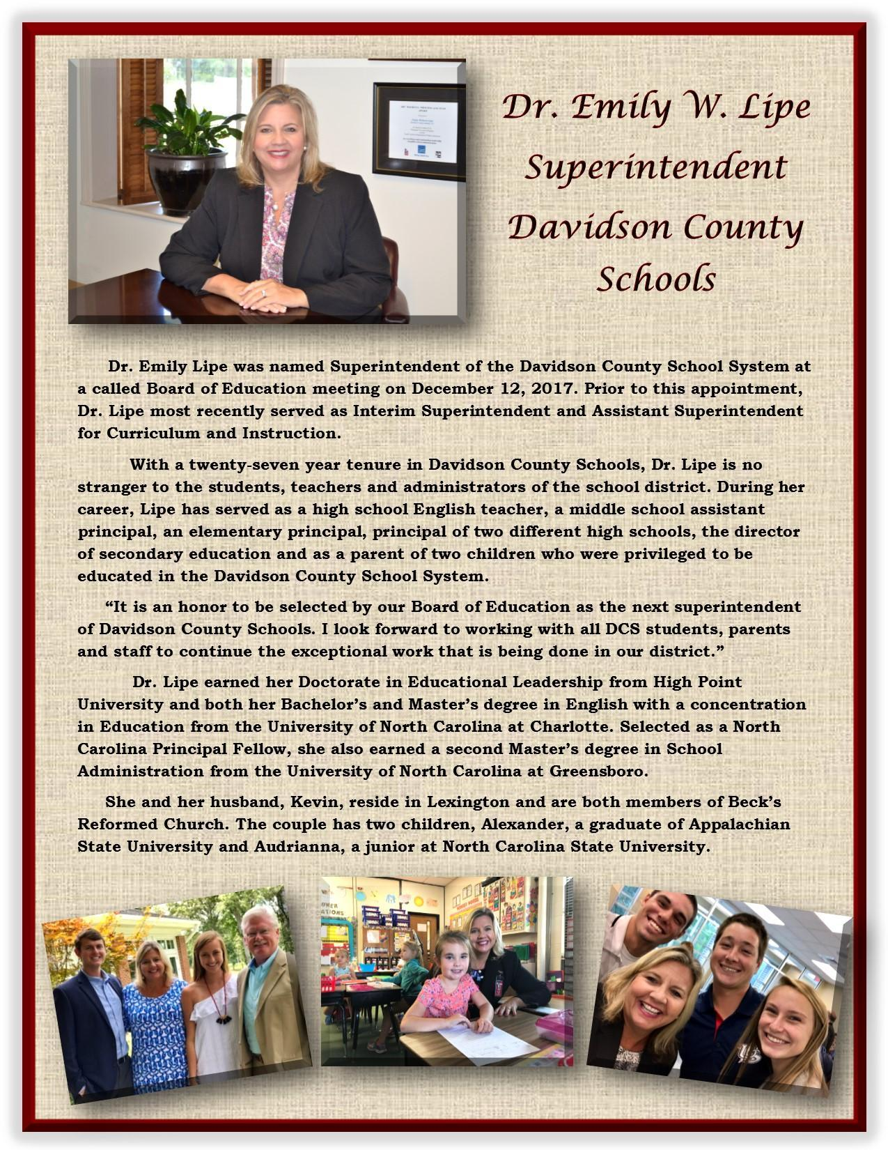 Superintendent's Biography