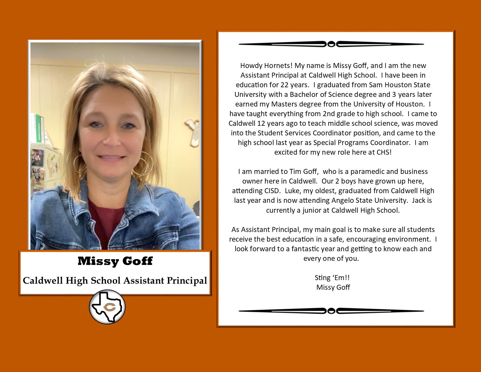 Assistant Principal's Message