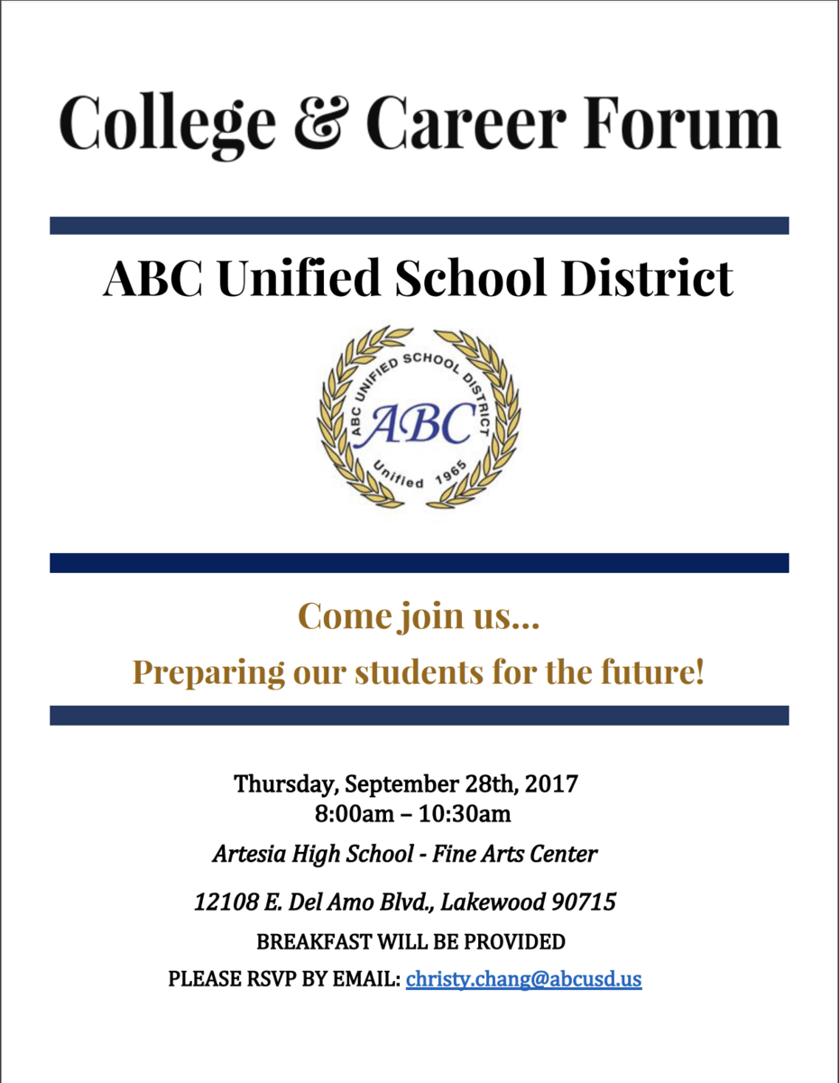 College and Career Forum Flyer
