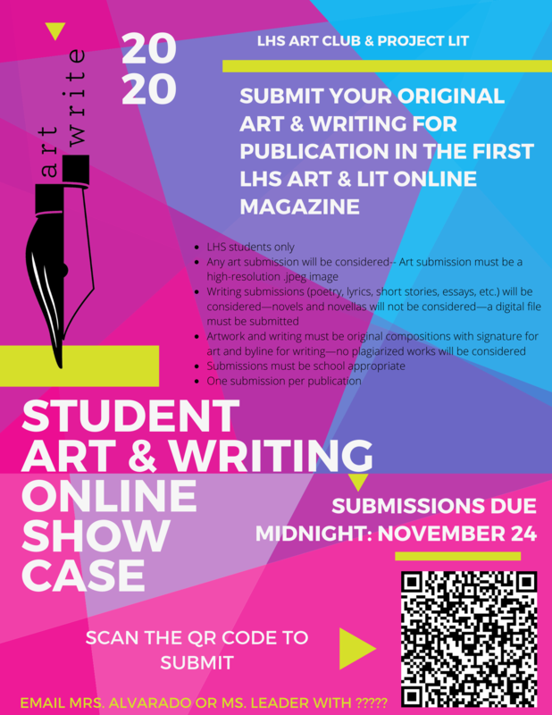 Submit Your Work for the LHS Literature  & Art Magazine Thumbnail Image