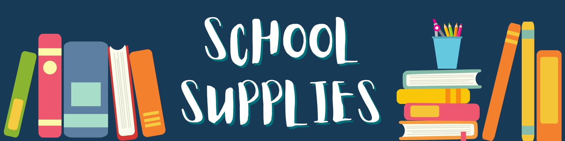 School Supplies Banner