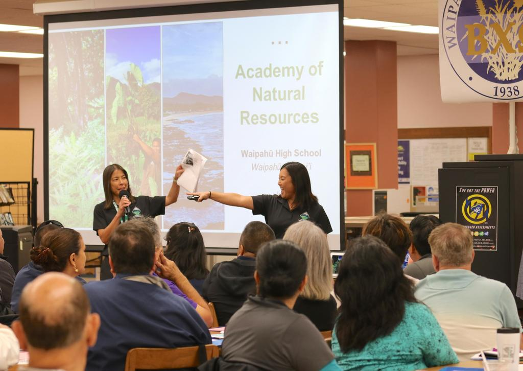 Mrs. Matsumura and Ms. Nakai share about the Academy of Natural Resources