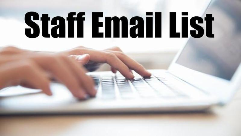 Staff Email List Thumbnail Image