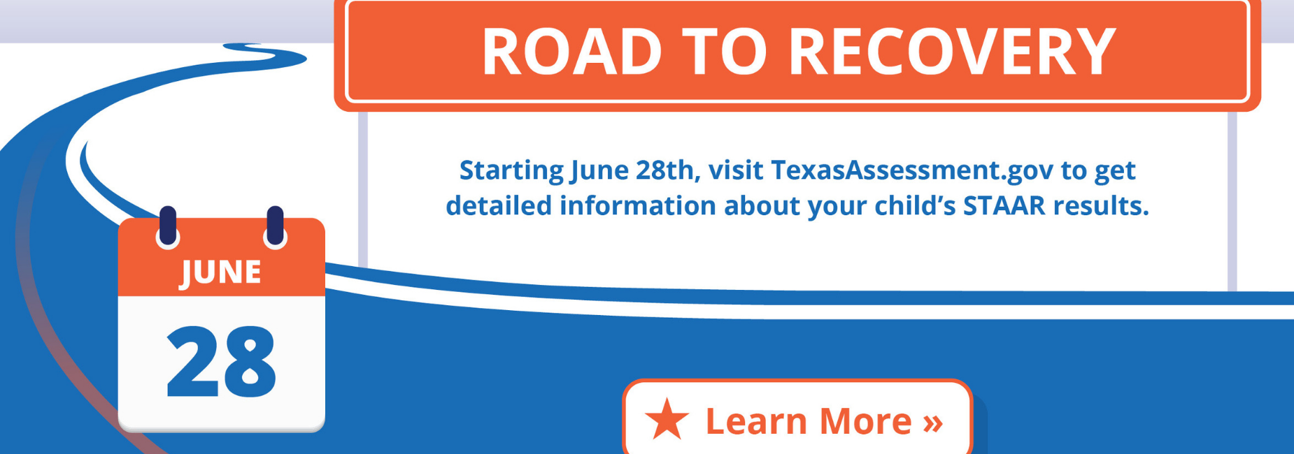 graphic explains visiting the TEA website for STAAR results beginning June 28