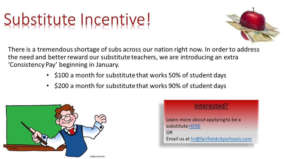 substitute incentive consistency pay