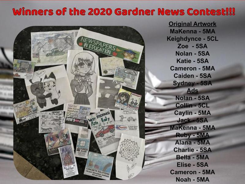 winners of the Gardner News contest
