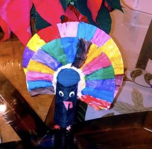Bright colored turkey project