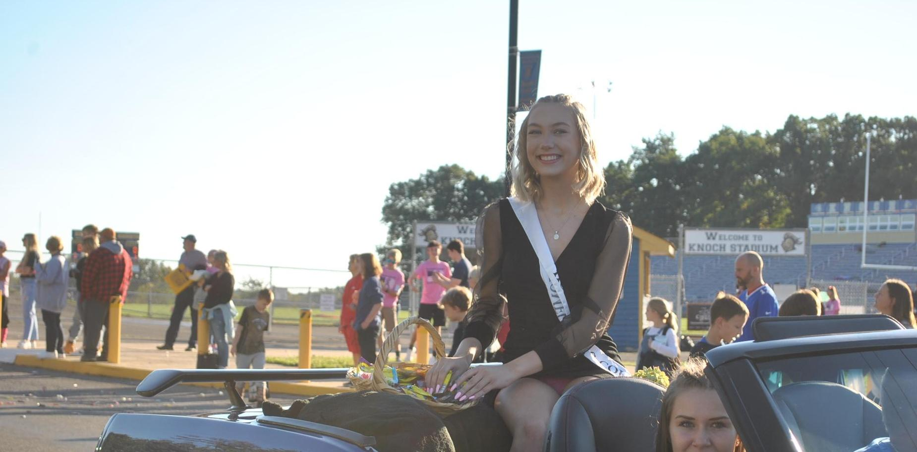 Homecoming Queen candidate in parade