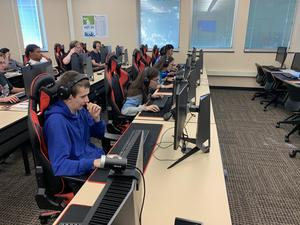 Countryside Students at Lake Michigan College for their first E-Sports Scrimmage
