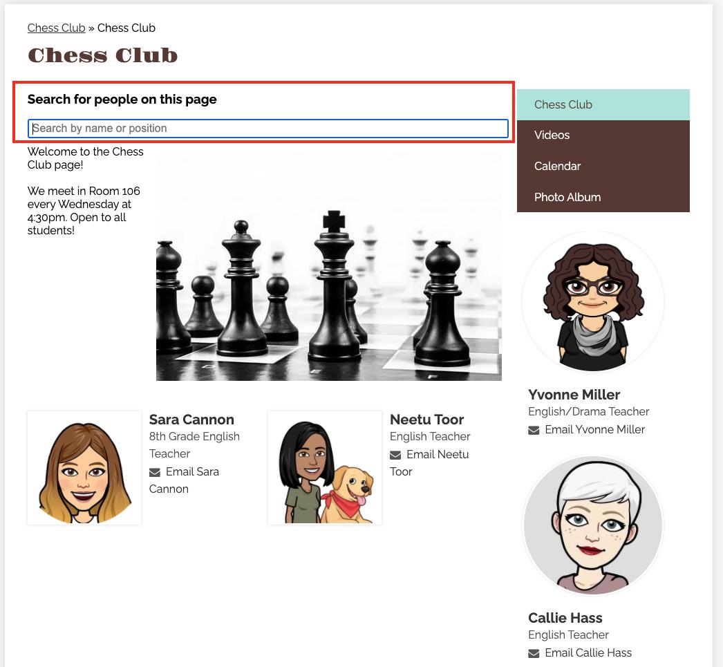 screenshot of a search bar