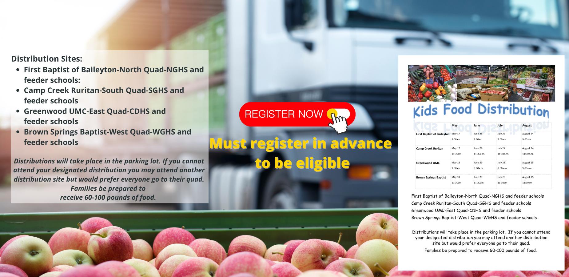 Food For Kids May Distribution Registration
