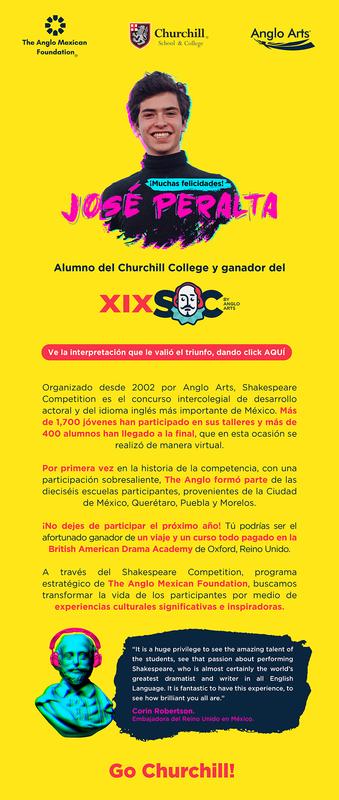 Felicidades a José Peralta   Ganador de la XIX Shakespeare Competition   Go Churchill! Thumbnail Image