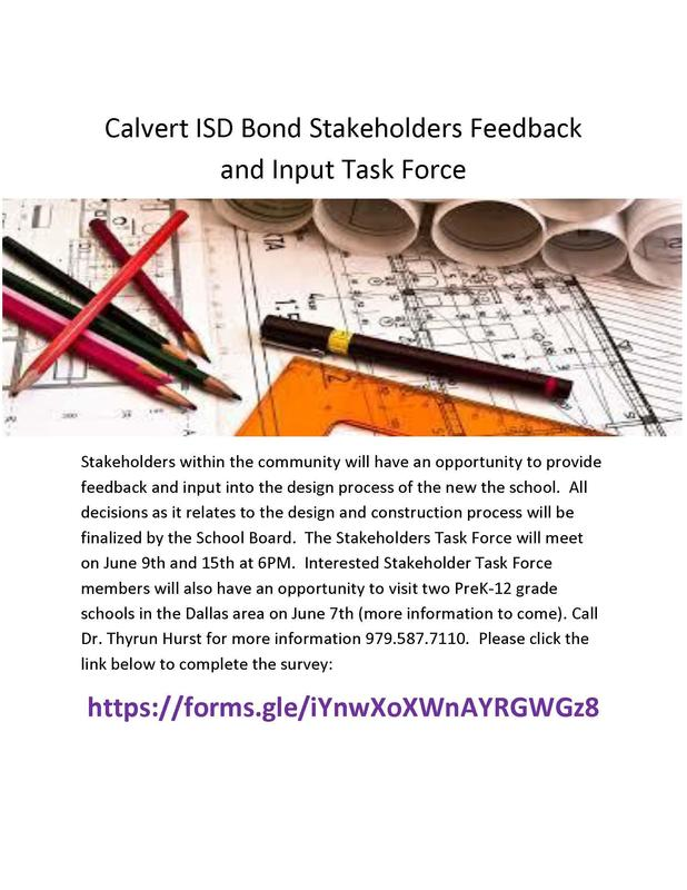 Calvert ISD Bond Stakeholders Feedback and Input Task Force.jpg