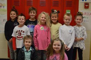 Students dress for Book Fair Spirit Week.