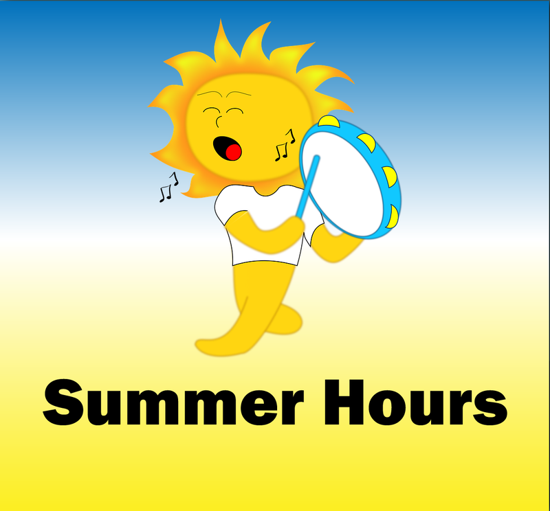 Summer Hours. Horario de verano. Featured Photo