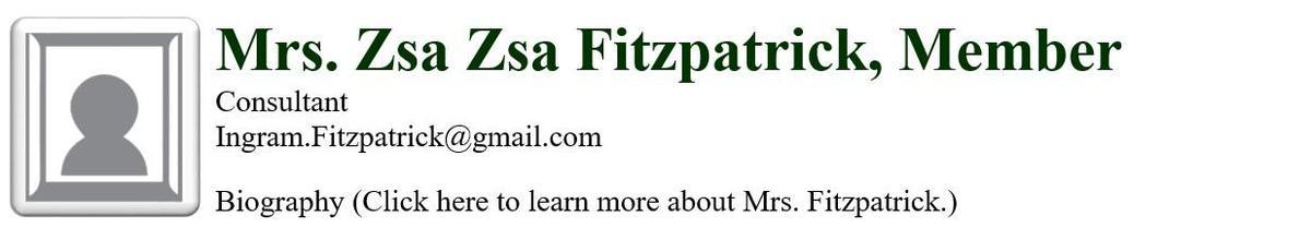 Mrs. Zsa Zsa Fitzpatrick