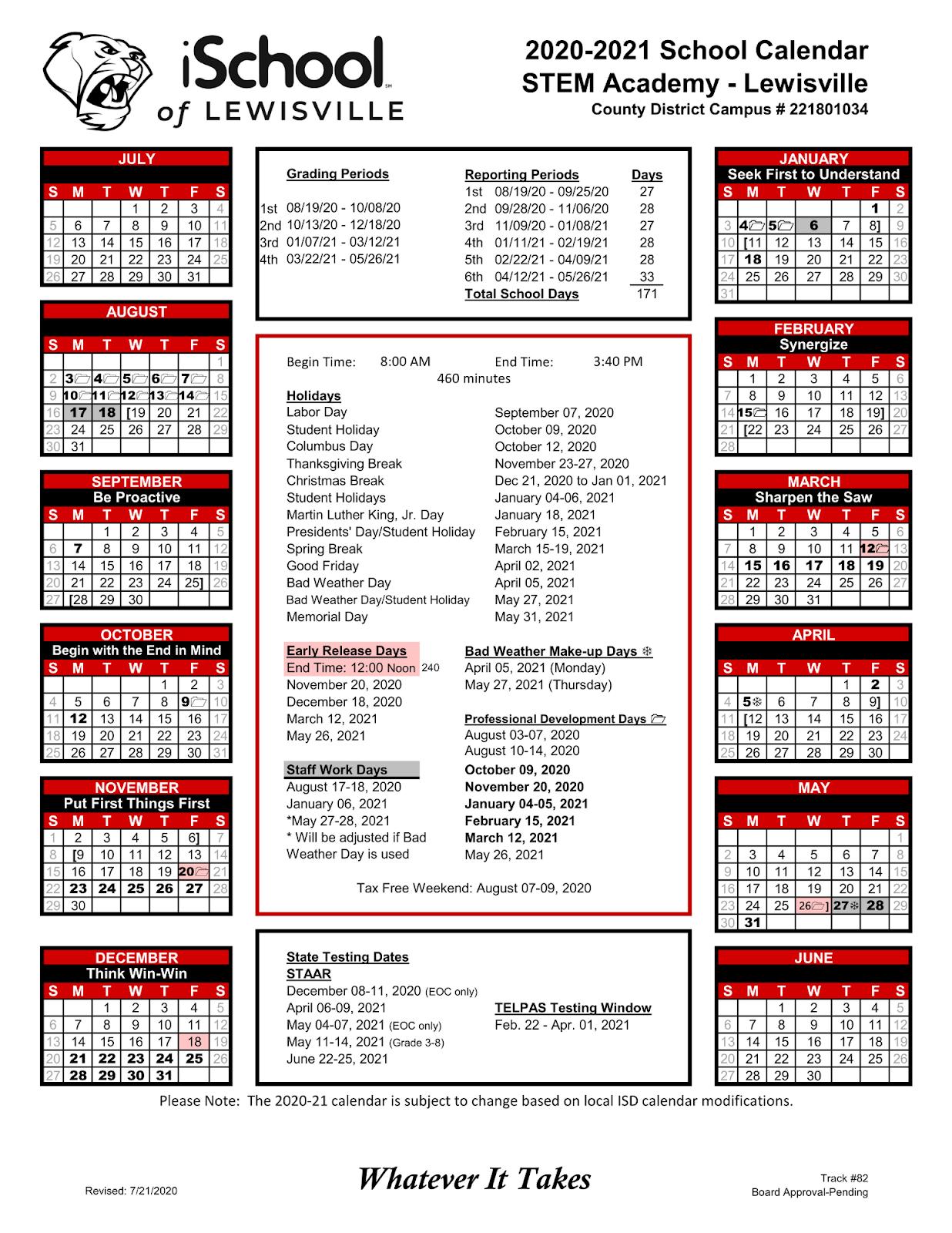 6-12 Campus Calendar