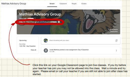 How to access Google Meet Through Google Classroom.